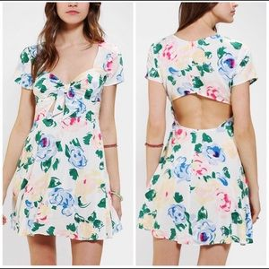 Reformation x Urban Outfitters Cutout Floral Dress